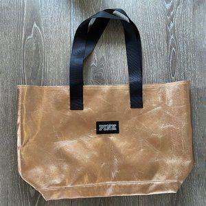 VICTORIAS SECRET PINK Rose Gold Tote Bag